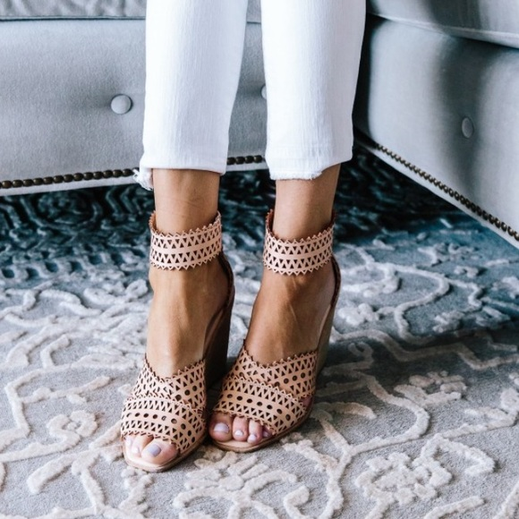 Jeffrey Campbell Besante Perforated Wedge Sandal